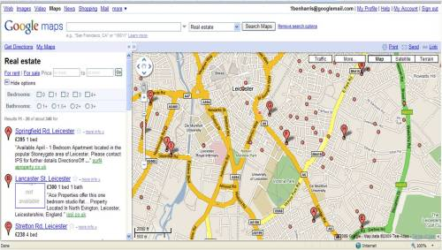 Google Map Search Leicester